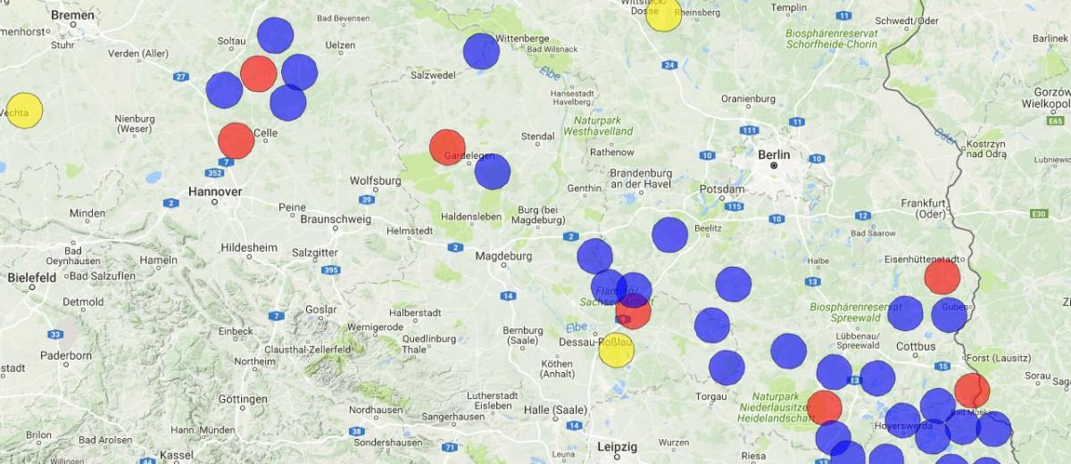 Wölfe In Brandenburg Karte.Die Offizielle Seite Der Dbbw Der Dokumentations Und